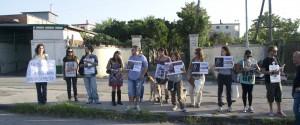 Manifestazione contro il circo