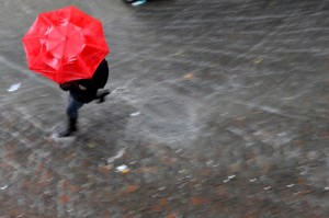 maltempo pioggia ombrello
