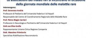 Giornata Mondiale delle Malattie Rare. Il 2 marzo un incontro a S.Giorgio a Cremano.