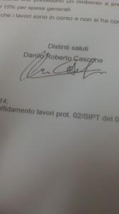 Firma apocrifa Danilo Roberto Cascone