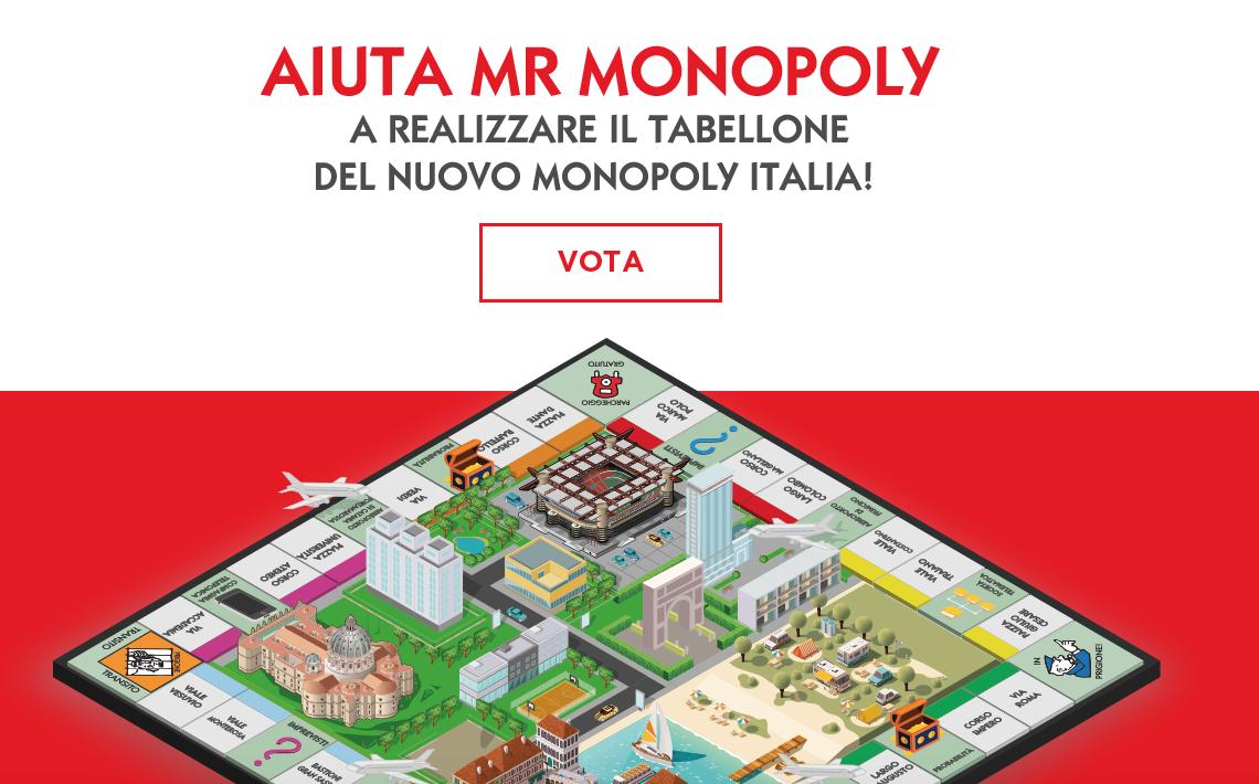 Ritorna il tabellone ITALIA del MONOPOLY votato da noi: votiamo SAN GIORGIO!