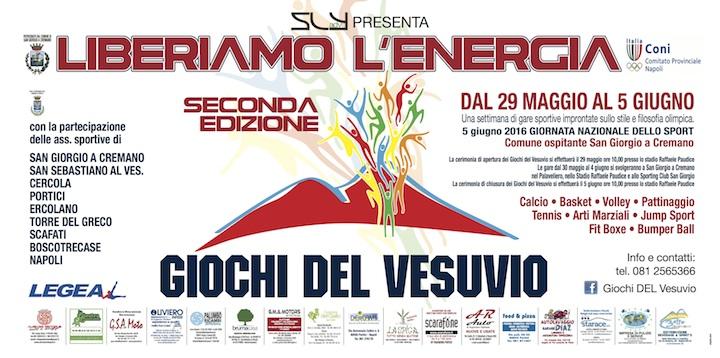 Giochi del Vesuvio. Al via le giornate dello sport. Dal 29 maggio al 5 giugno.